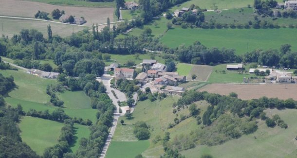 vue sur saint julien en quint dans la Drôme